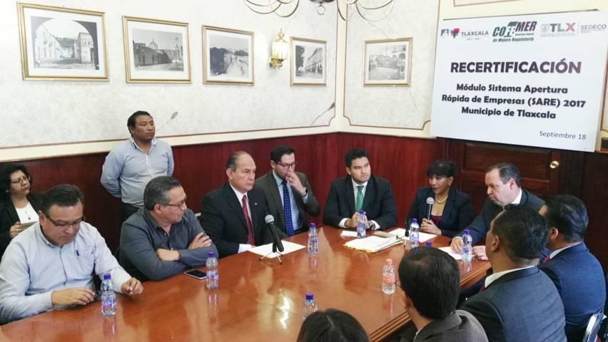 Ayuntamiento de Tlaxcala a la vanguardia en mejora regulatoria: Cofemer
