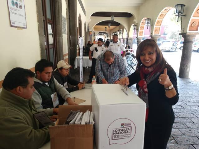 Vota Lorena Cuéllar a favor de proyectos de AMLO