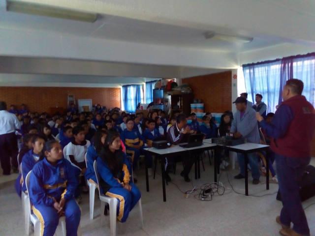 Imparte PGJE pláticas de prevención del delito a estudiantes de Atlangatepec