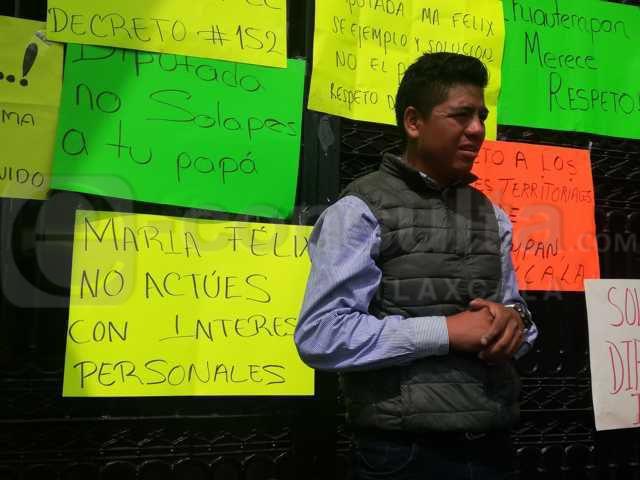 Fuera María Felix por gangosa y tracala: chiautempenses