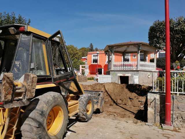 Inician construcción de puente alcantarilla y rehabilitación de Kiosco en Chimalpa