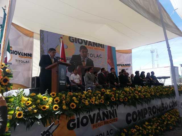 Destaca Giovanni Pérez Briones  un gobierno transparente y con posicionamiento