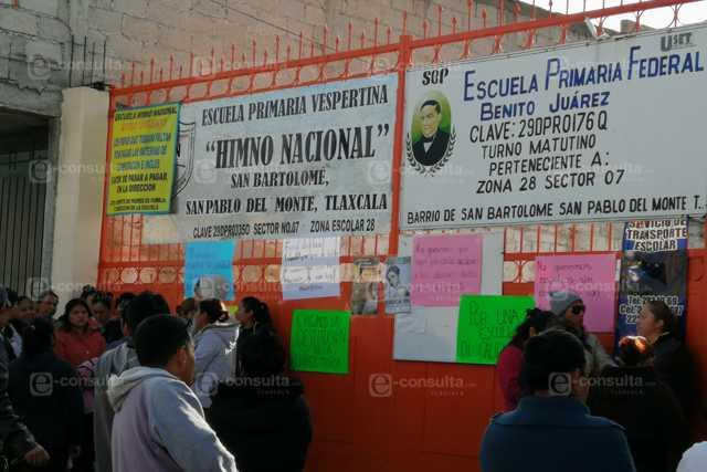 Paterfamilias cierran primaria en San Pablo del Monte