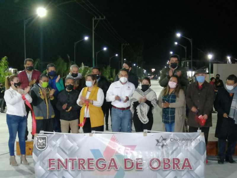 24 mil beneficiados con la rehabilitación de la avenida La Paz en Chiautempan