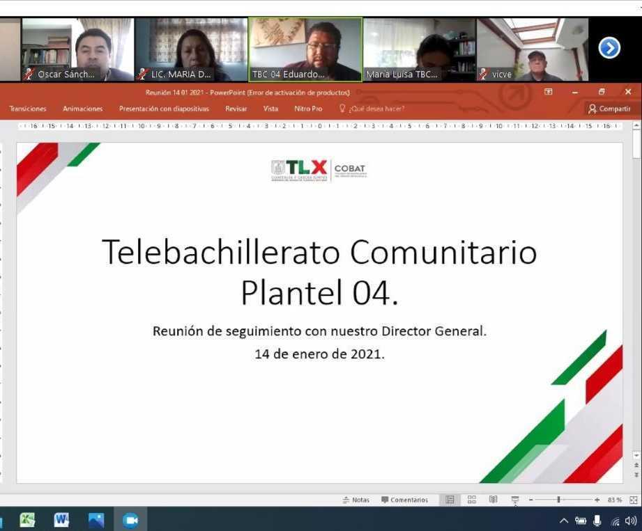 Se reúne el Director General del COBAT-TBC con responsables de planteles comunitarios