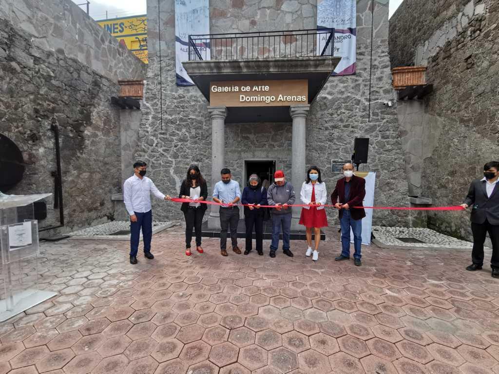 Inauguran la exposición -La escala mínima del terremoto- en la Galería de Arte Domingo Arenas