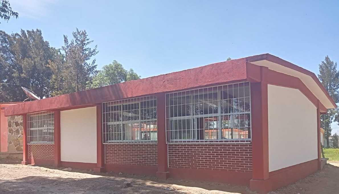 Concluye COBAT-TBC construcción de biblioteca en plantel 16 Teolocholco