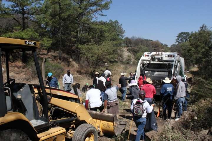 En Santa Cruz Tlaxcala refuerzan acciones para evitar inundaciones