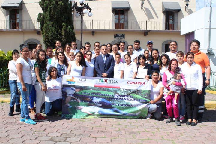 Imparten en Tetla curso de urgencias médicas