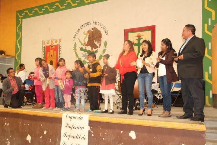 La Orquesta Sinfónica  Infantil de Santa Cruz Tlaxcala llego a Xiloxoxtla