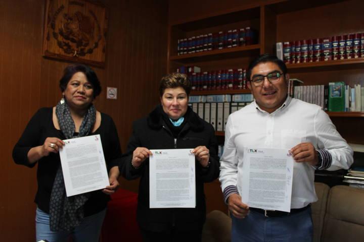 Firman convenio el CJMT y el Ayuntamiento de Totolac