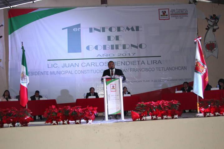 En un año hemos trabajado por el desarrollo del municipio: Mendieta Lira