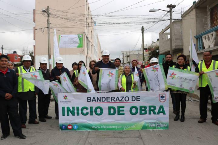 Héctor Domínguez Rugerio beneficia a más de mil 500 chiautempenses con obra