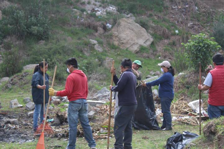 Con el saneamiento de barrancas prevenimos inundaciones en estas lluvias