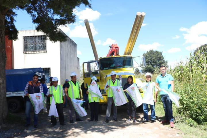380 familias beneficiadas con ampliación de Red Para Energía Eléctrica en Chiautempan
