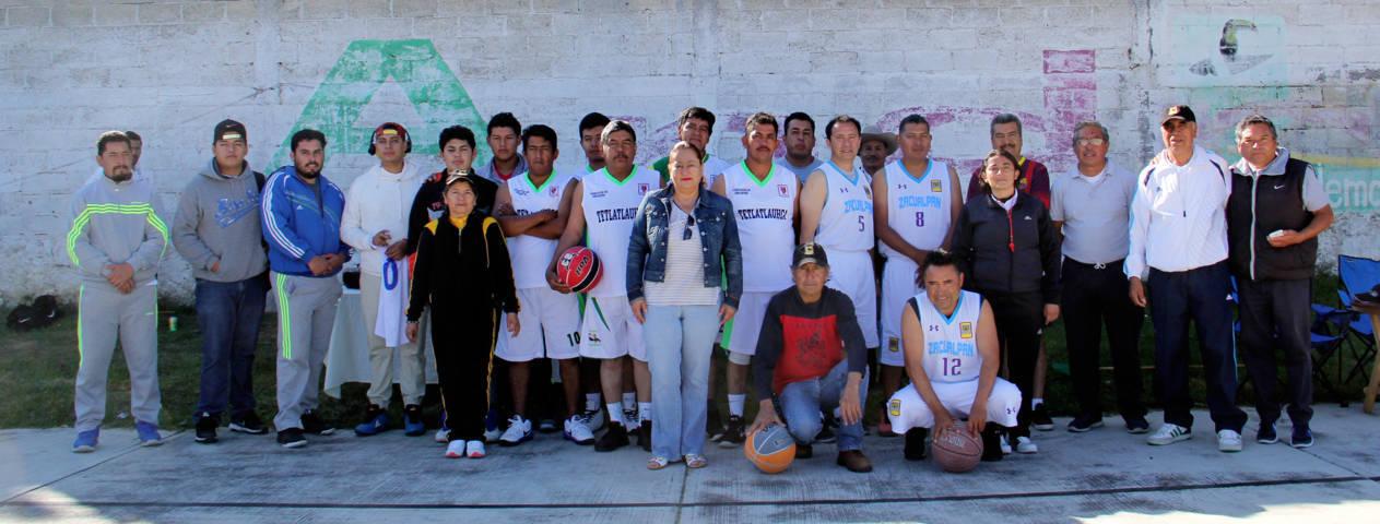 Dirección de Deportes de Texóloc organiza cuadrangular de basquetbol