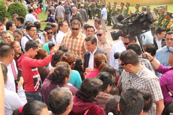 Sorpresiva visita del presidente Peña Nieto a Ixtacuixtla