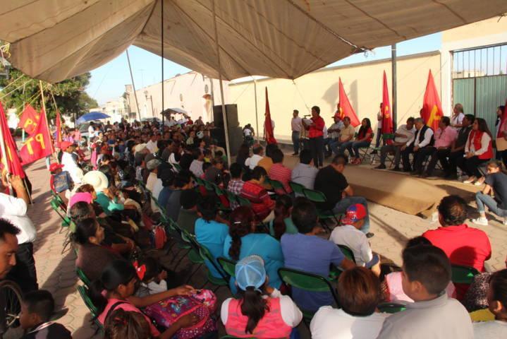 Isabel Saavedra Salas muestra musculo en el distrito VI, para el Congreso Local