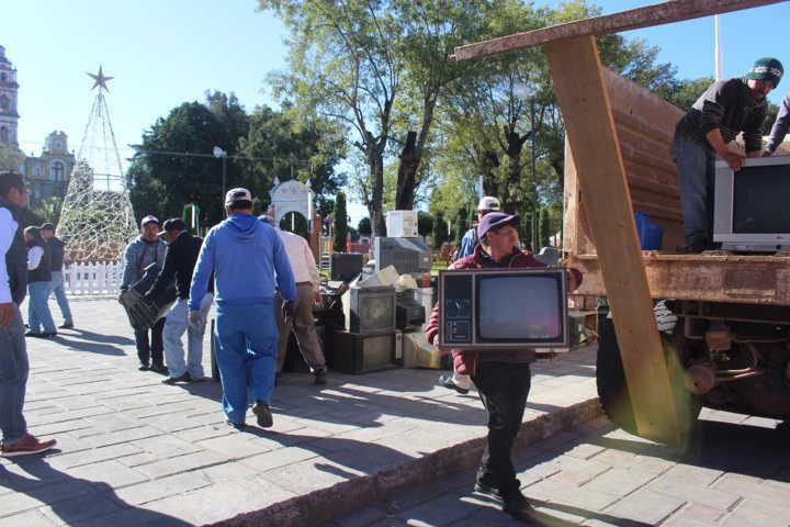Concluye campaña Recolección De Residuos Eléctricos Y Electrónicos en Santa Cruz