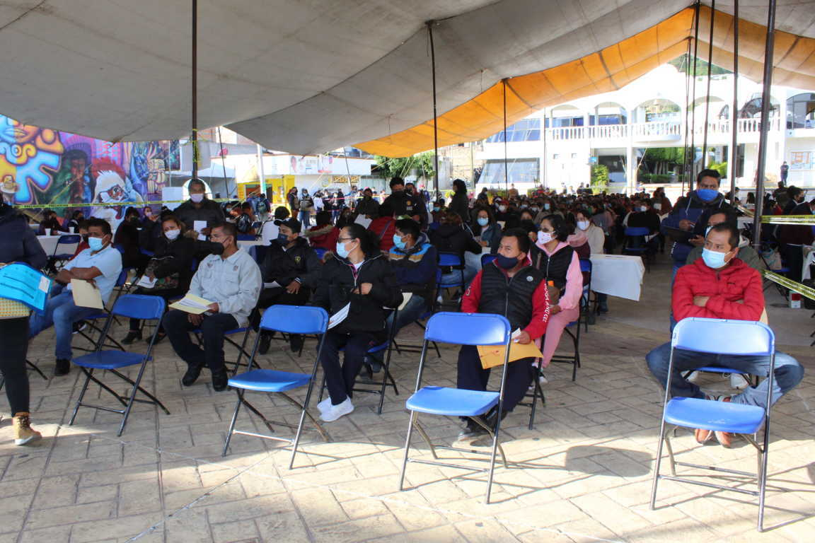 Ciudadanos de Tepetitla de 40 a 49 años de edad recibieron vacuna contra Covid-19