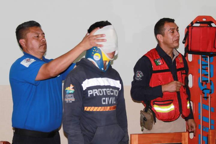 Ayuntamiento de Tetla capacita a su personal en primeros auxilios