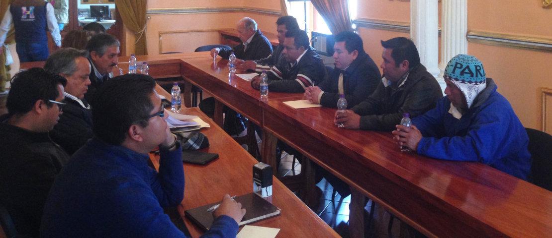 Se reúne Alcalde de Huamantla con comité ciudadano para solucionar problema de agua en Ignacio Zaragoza