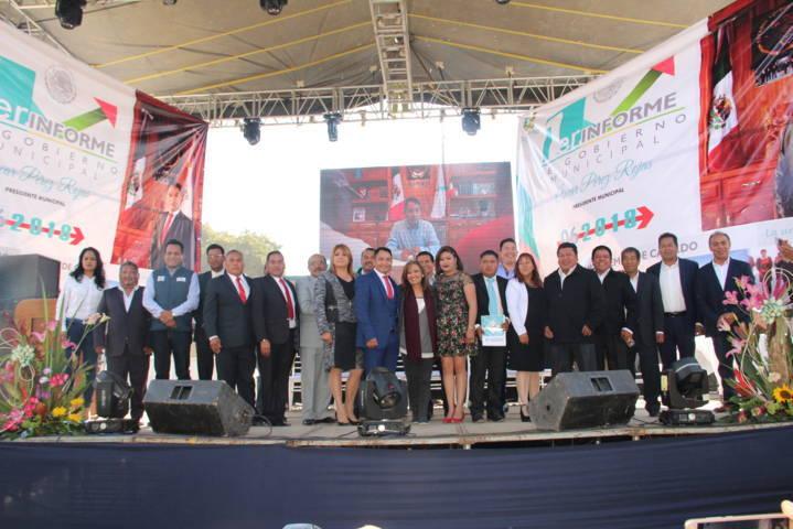 Alcalde resalta obras y acciones a favor de la ciudadanía en su 1er informe de gobierno