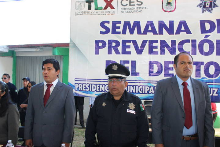 Inauguran Semana de la Prevención del Delito en Santa Cruz Tlaxcala