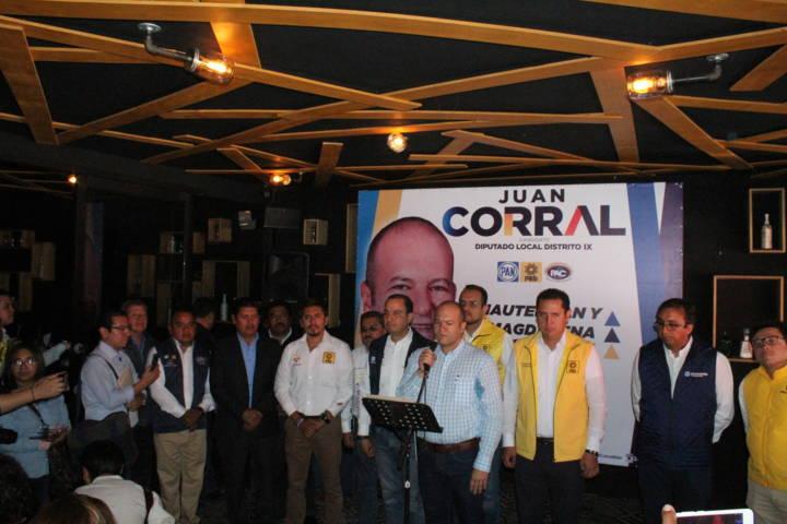 Líderes panistas, perredistas y aliancistas se suman al proyecto de Juan Corral