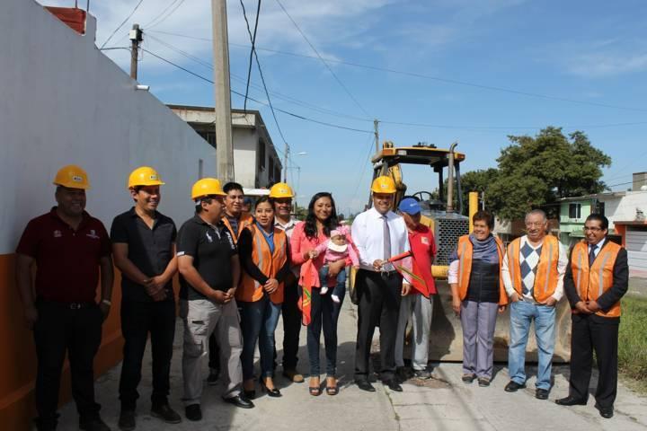 Adoquinarán calle Ferrocarril en Santa Cruz Tlaxcala