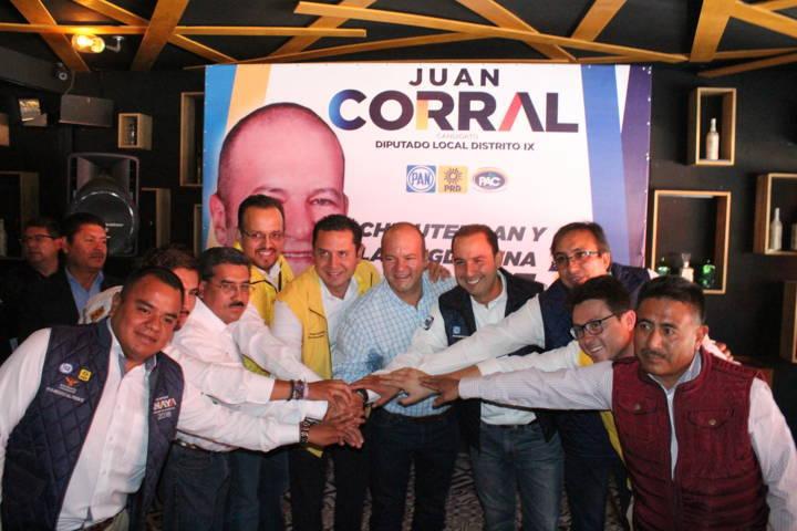 Con acciones inéditas Juan Corral inició campaña