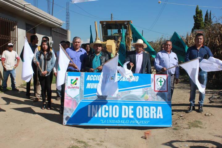 Quilehtla consolida avance con pavimentación de 5 calles: Pérez Rojas