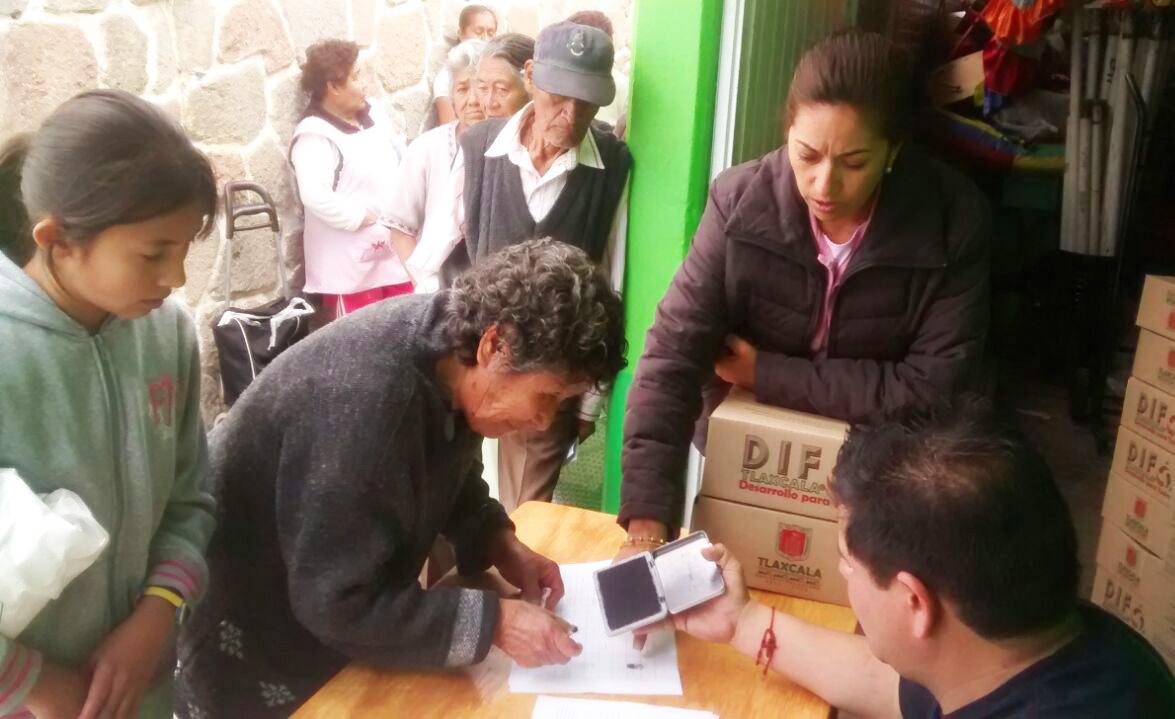 DIF  Municipal de Huamantla realiza entrega de despensas