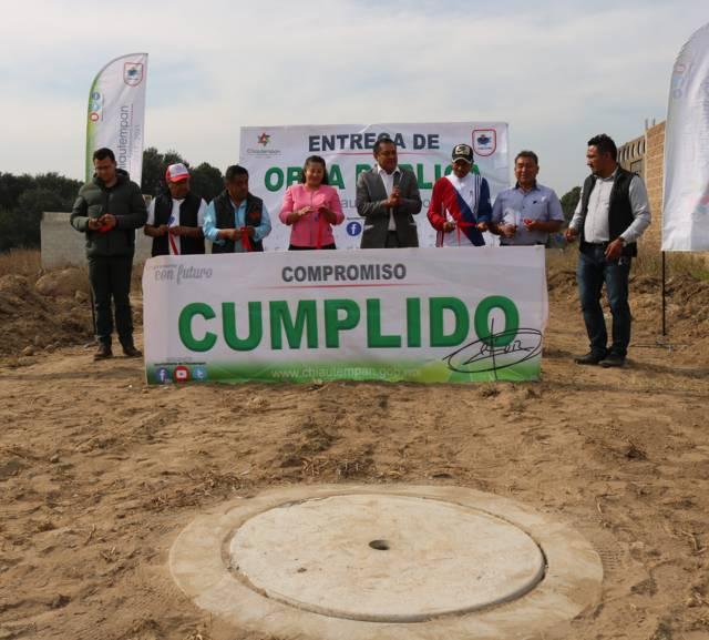 Cumple Héctor Domínguez Rugerio con drenaje y energía eléctrica en Muñoztla