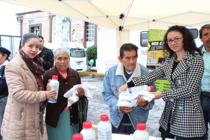 Se otorgan apoyos al campo en Tetla de la Solidaridad