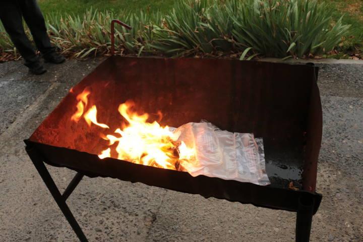 Incinera FGR en Tlaxcala diferentes narcóticos