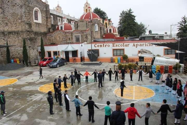 Policía municipal de Calpulalpan mantiene cercanía con la comunidad estudiantil