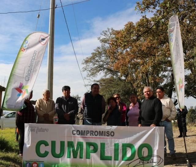 Ampliación de red para energía eléctrica en Texcacoac