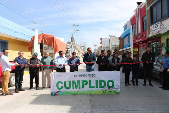 Concluyen obras en la Calle Morelos de Chiautempan