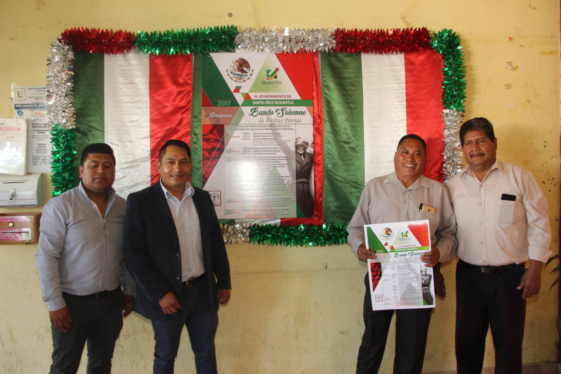 Con la fijación del Bando Solemne iniciamos el mes patrio: Pérez Rojas
