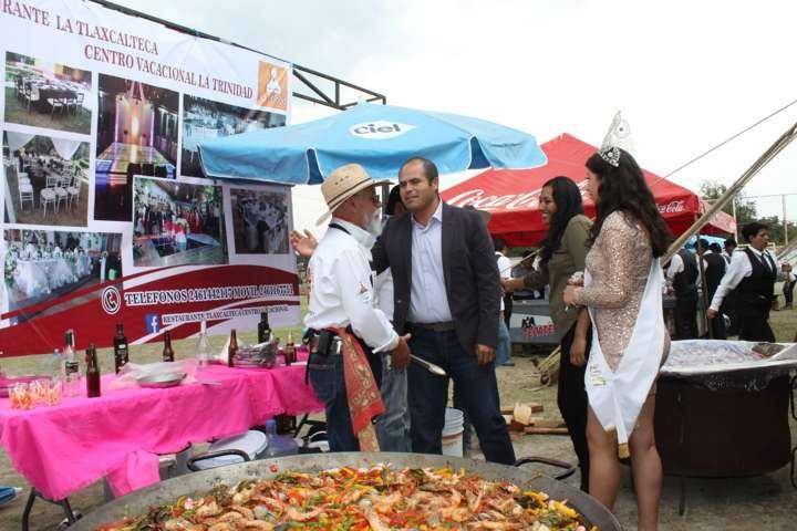 Magna degustación de paellas en Santa Cruz Tlaxcala