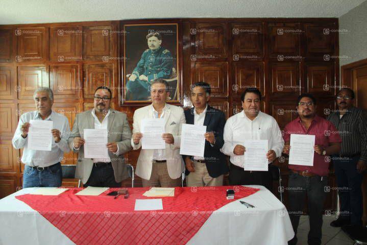 Papalotla sede de la firma de convenio de alcaldes con Fraternidad Nacional