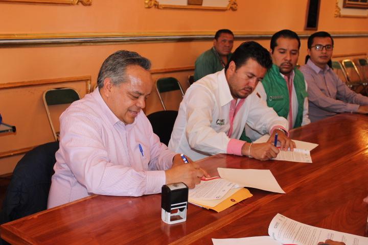 Signan convenio de colaboración institucional Ayuntamiento de Huamantla y Coeprist