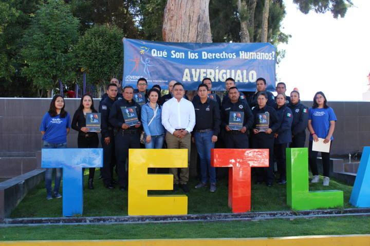 Elementos de seguridad de Tetla reciben curso de derechos humanos.