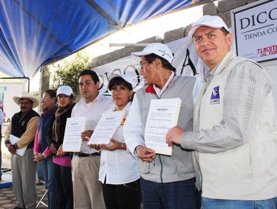 Se inaugura en Huamantla una tienda más de DICONSA
