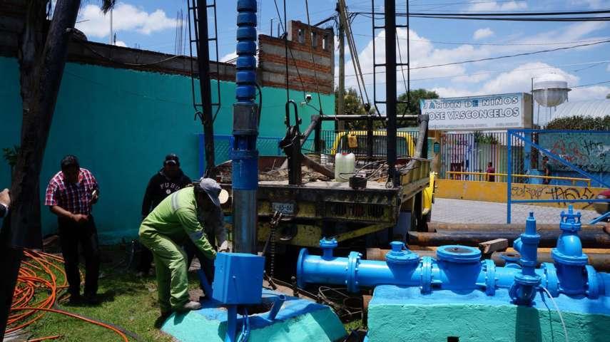 Reparan bomba de pozo de agua en comunidad del Cristo, San Pablo del Monte