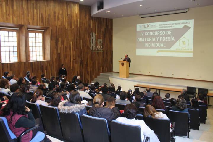 Santa Cruz Tlaxcala sede del Concurso de Oratoria y Poesía individual