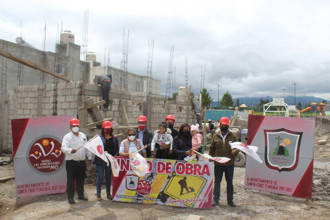 Avanza la construcción Casa del Abuelo en Santa Cruz Tlaxcala al 50 por ciento
