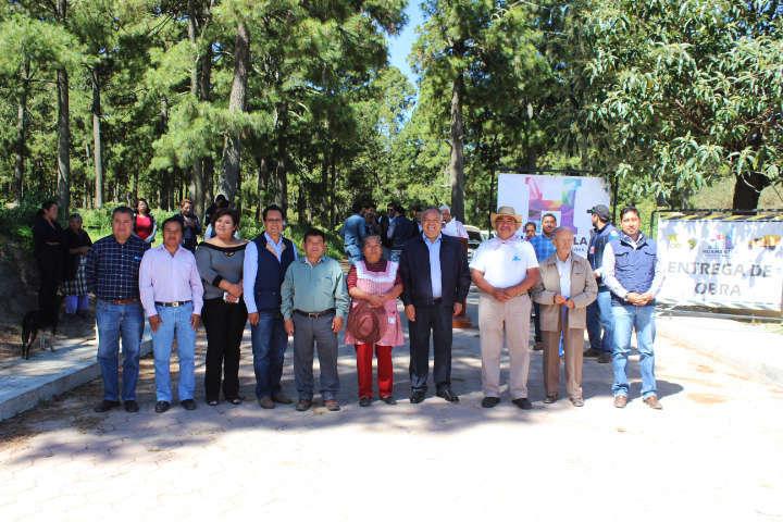Continúa Ayto. de Huamantla entregando obras en comunidades