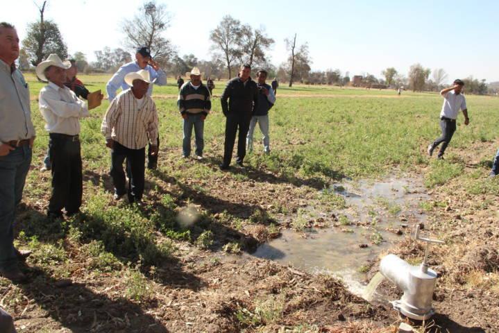 Con la rehabilitación de este pozo ejidatarios de Santa María tendrán agua: alcalde